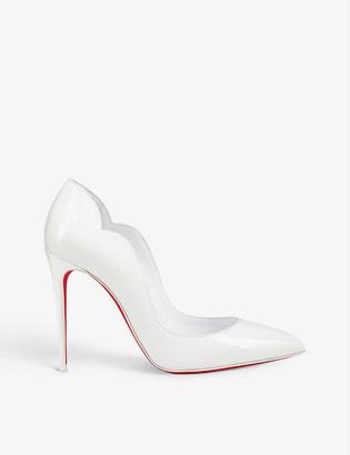 Christian Louboutin Hot Chick 100 patent/lining bianco/lin b