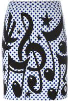 Jeremy Scott polka dot skirt