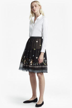French Connection Bijou Embroidered Flared Skirt