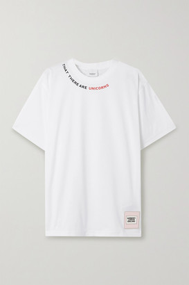 Burberry Printed Stretch-cotton Jersey T-shirt - White