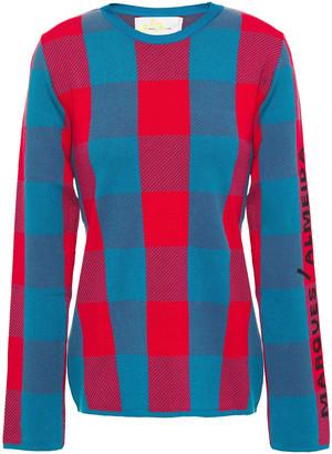 Marques Almeida Jacquard-knit Sweater