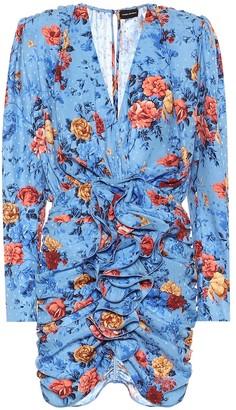Magda Butrym Burgos floral silk minidress