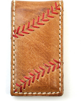 Rawlings Sports Accessories Tan Leather Baseball Stitch Money Clip
