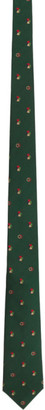 Gucci Green Interlocking G Lucky Tie