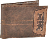 Levi's Brown Logo-Patch Leather Wallet