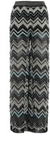 M Missoni Chevron Patterned Palazzo Trousers