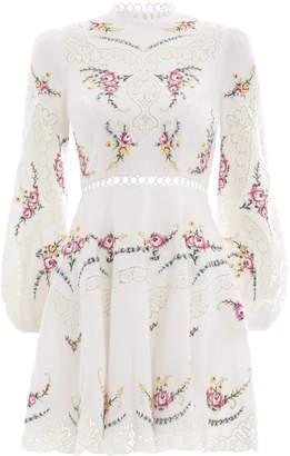 Zimmermann Allia Cross Stitch Short Dress
