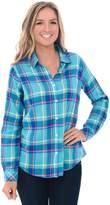 Alexander Del Rossa Del Rossa Women's Flannel Shirt, Button-Down Cotton Boyfriend Top, (A0710Q26LG)