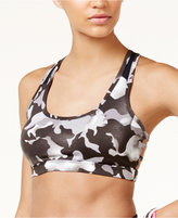 Material Girl Active Juniors' Mesh Cage-Back Sports Bra, Created for Macy's