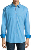 English Laundry Floral-Dot Sport Shirt, Teal