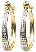 Journee Collection 1/10 CT. T.W. Round-cut Diamond Pave Set Hoop Earrings in Sterling Silver