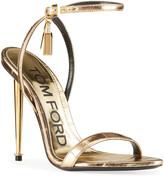 Tom Ford Metallic Eel Padlock & Key Sandals