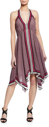 MICHAEL Michael Kors Border Handkerchief Halter Dress