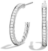David Yurman Sculpted Cable Diamond Earrings