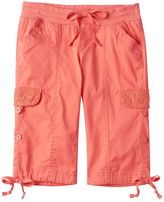 UNIONBAY Girls 7-16 Gilliam Cuffed Cargo Shorts