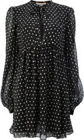 Saint Laurent polka dot neck tie dress