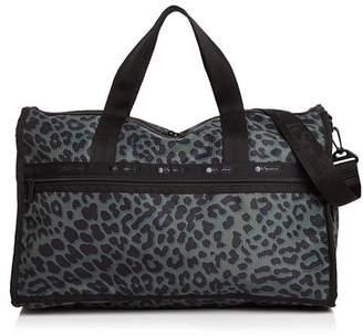 Le Sport Sac Candace Leopard-Print Weekender Duffel Bag