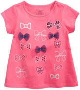 First Impressions Bow-Print T-Shirt, Baby Girls, Created for Macy's