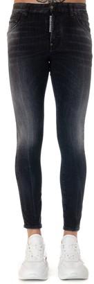 DSQUARED2 Black Stretch Cotton Jeans