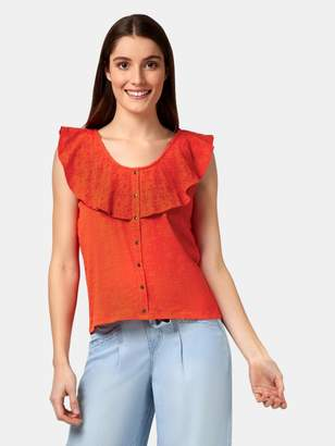 Jeanswest Joanna Broderie Trim Top