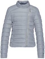 Moncler Clervie Asymmetric-Zip Puffer Jacket, Gray, Size 8-14