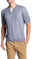 Autumn Cashmere Short Sleeve Split Neck Shirt