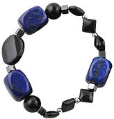 Barse Genuine Hematite, Tiger's Eye & Lapis Stretch Bracelet