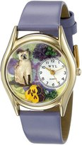 Whimsical Watches Kids' C0120004 Classic Siamese Cat Lavender Leather And tone Watch