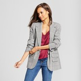 A New Day Women's Plaid Boyfriend Blazer - A New Day Gray