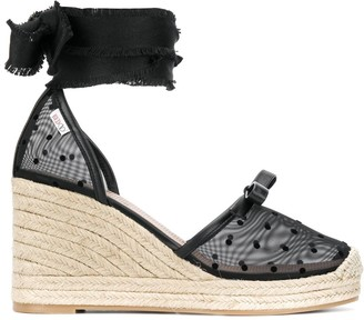RED Valentino RED(V) self-tie wedge sandals