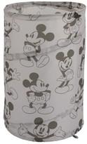 Disney Mickey Mouse Round Pop-Up Hamper, Grey & Black