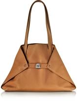 Akris Ai Small Cuoio Leather Tote Bag