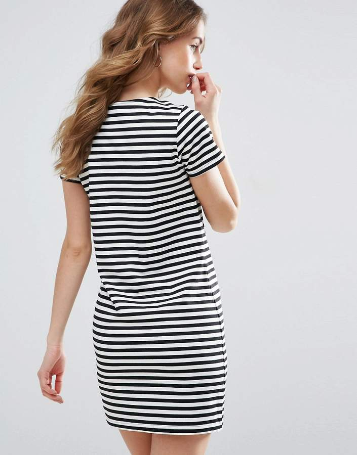 Vila Striped T-Shirt Dress