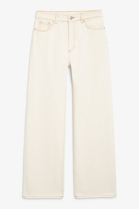 Monki Yoko off-white jeans