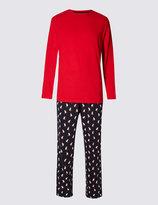Marks And Spencer Pure Cotton Xmas Polar Bear Pyjamas
