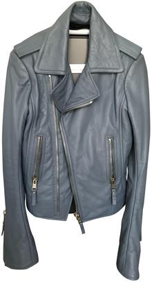 Balenciaga Blue Leather Leather jackets