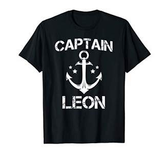 Leon CAPTAIN Funny Birthday Personalized Surname Clan Gift T-Shirt
