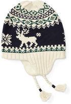 Ralph Lauren Reindeer Cotton Earflap Hat