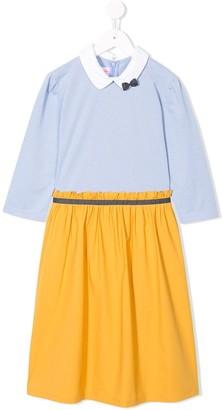 Familiar Twofer Striped Top Dress