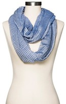 Merona Women's Infinity Scarf Blue and White
