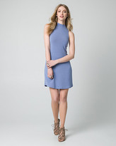 Le Château Jersey Mock Neck Mini Dress