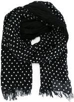 Yohji Yamamoto dotted print scarf