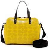 Orla Kiely Caraway Sixties Stem Punched Leather Satchel