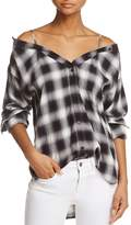 Bailey 44 A Terre Plaid Cold-Shoulder Tunic