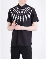 Neil Barrett Lightning-print slim-fit cotton shirt