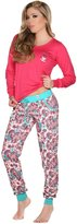 Laura Women's Long Sleeve 2 Piece Pajama Set Sparkle 502067FU-521067MA XL