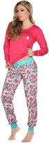 Laura Women's Long Sleeve 2 Piece Pajama Set Sparkle 502067VA-521067ROSA M