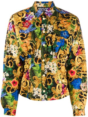 Versace Floral And Baroque Print Shirt