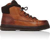 Ermenegildo Zegna Men's Rib-Knit-Detailed Hiking Boots-BROWN