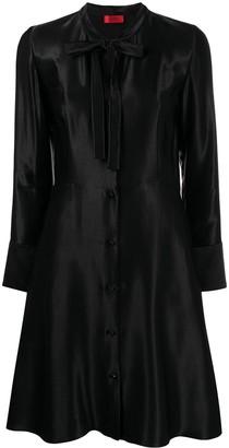 HUGO BOSS Bow-Detail Flared Dress